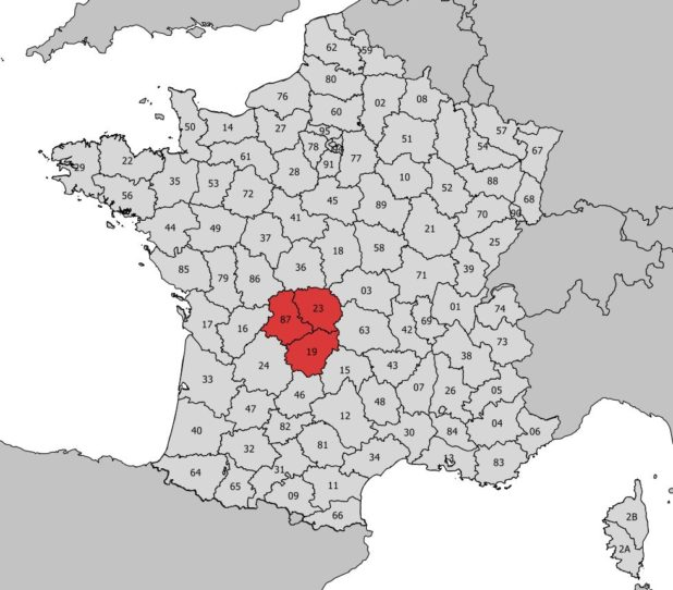 Où se trouve la région du Limousin