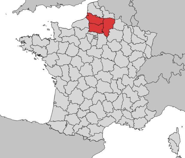 Où se trouve la région Picardie sur une carte de France