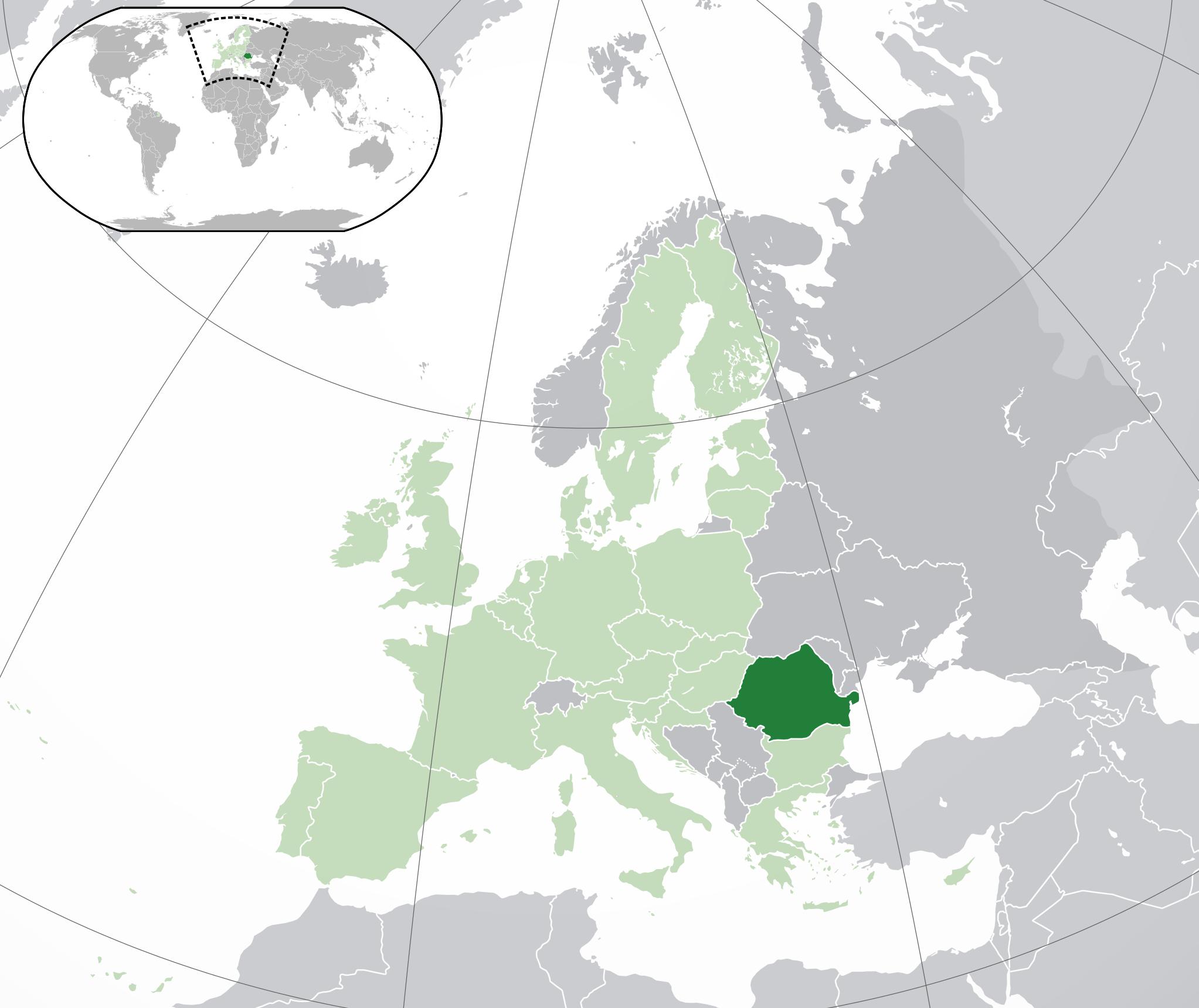 Où se trouve la Roumanie sur une carte de l'Europe ?