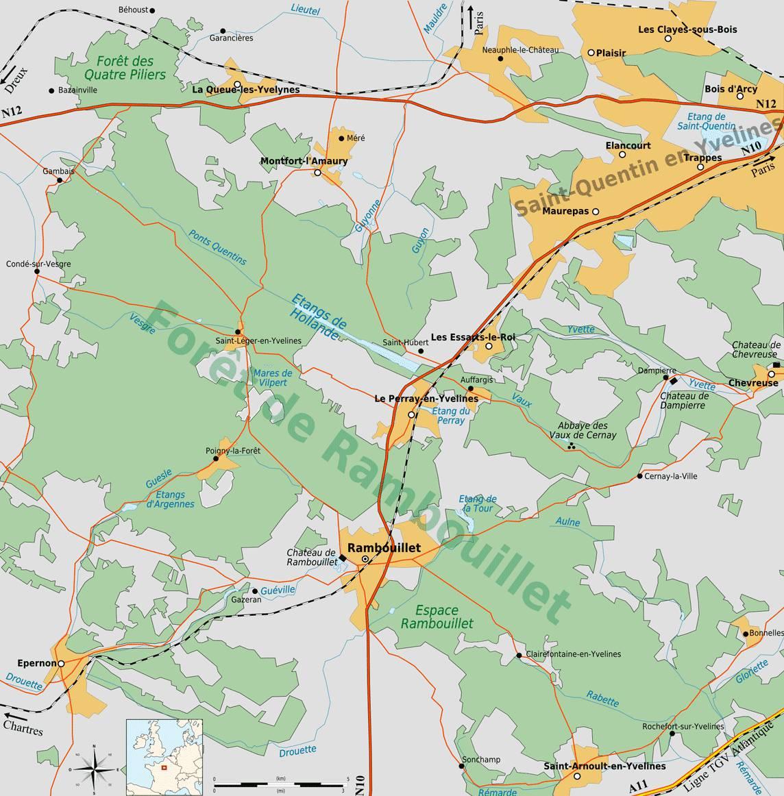 Plan de la Forêt de Rambouillet