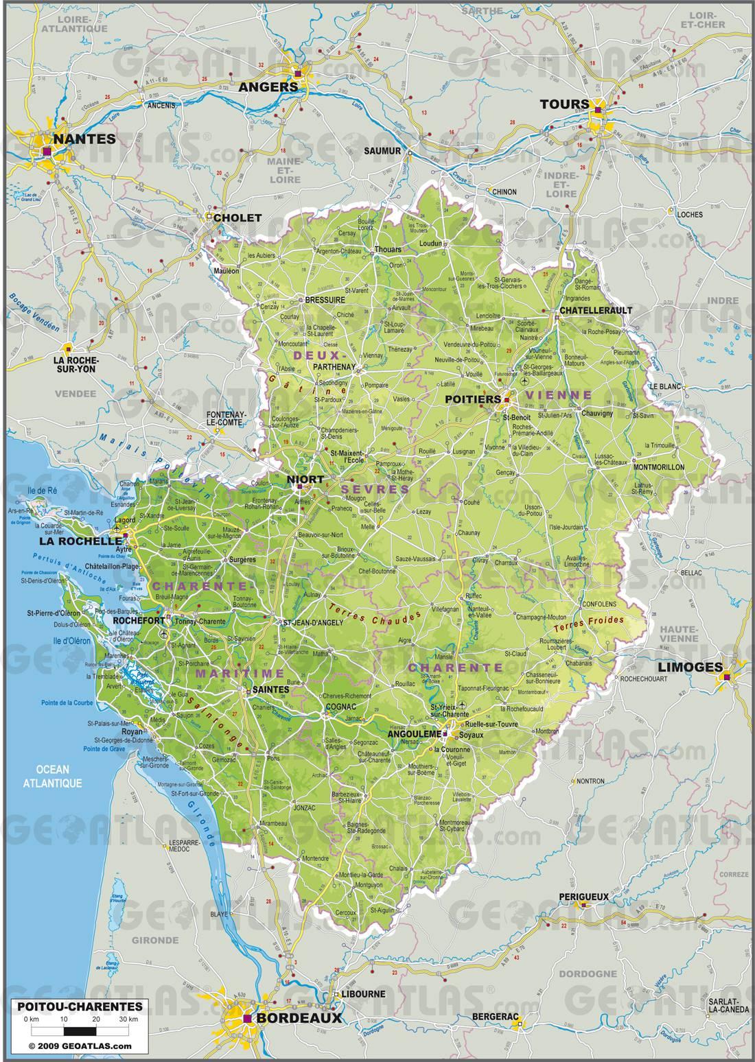 Poitou-Charentes carte