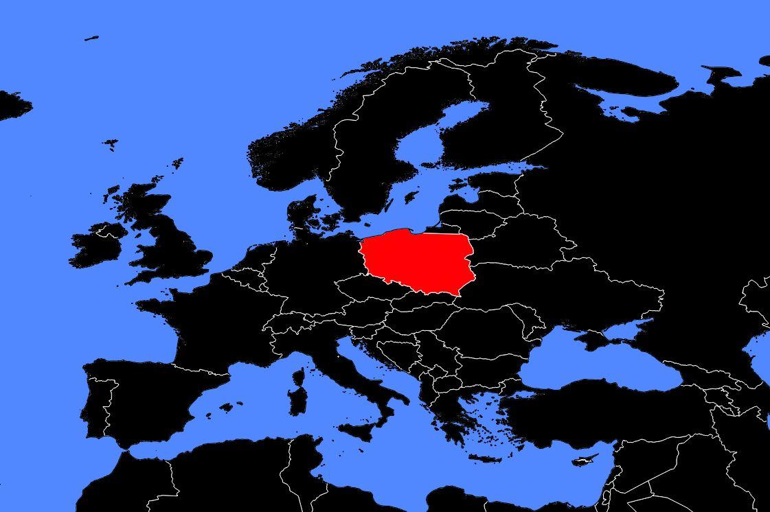 pologne carte du monde