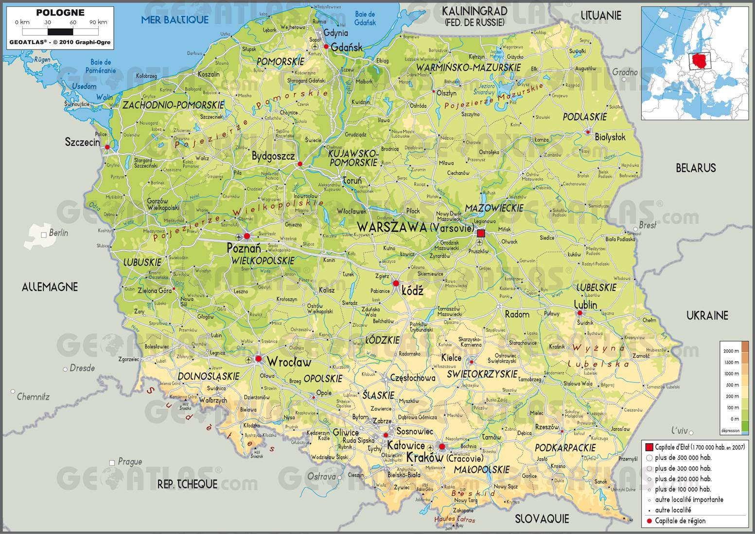 carte-geographique-de-la-pologne - Photo