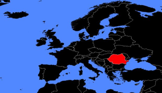 Roumanie sur une carte de l'Europe