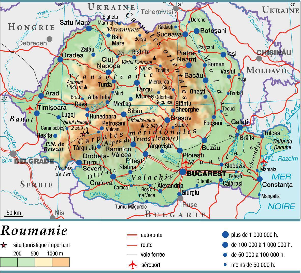 Roumanie carte
