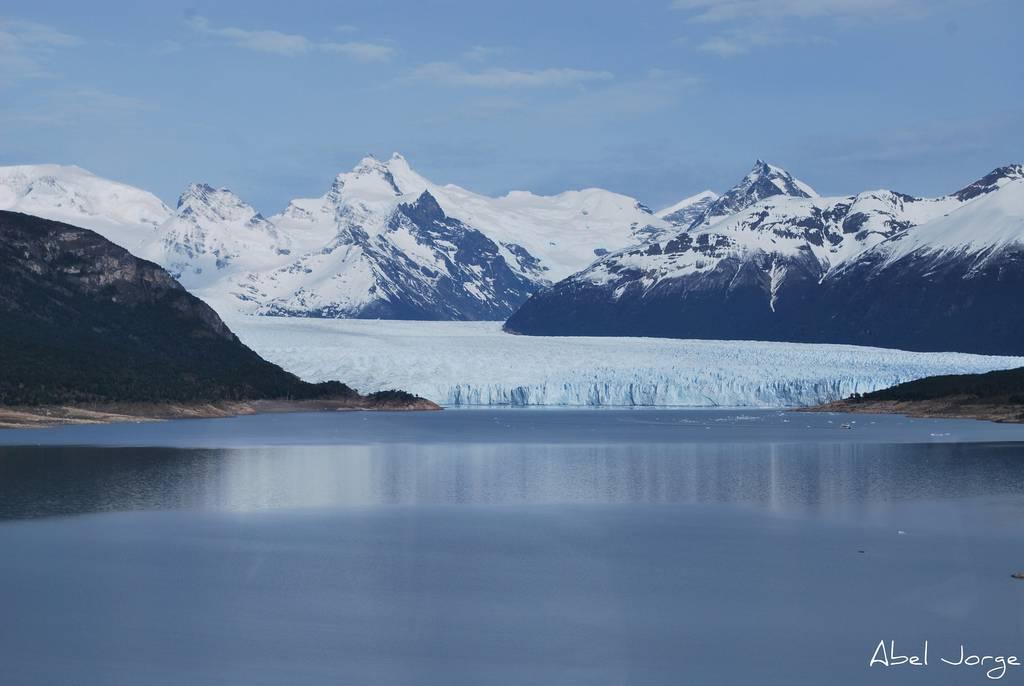 Vue aérienne du Glacier Perito Moreno