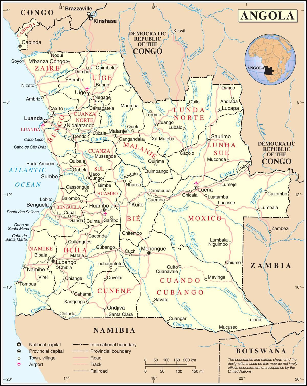 Angola carte