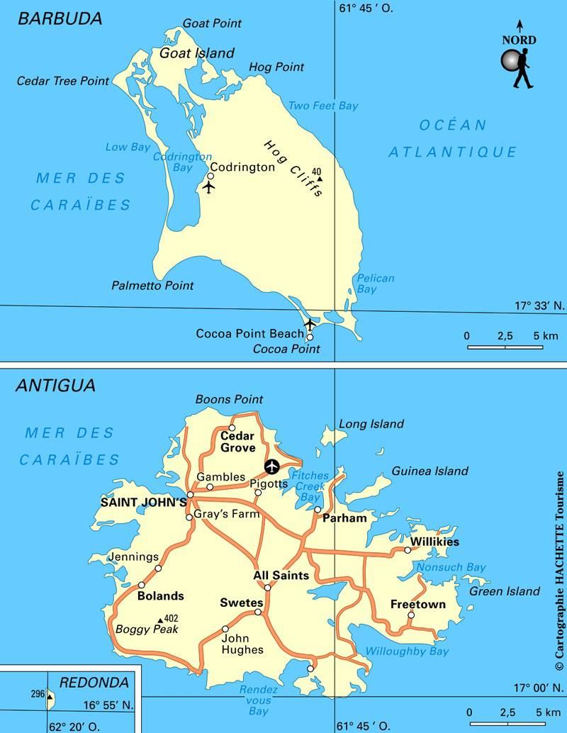 Antigua-et-Barbuda carte