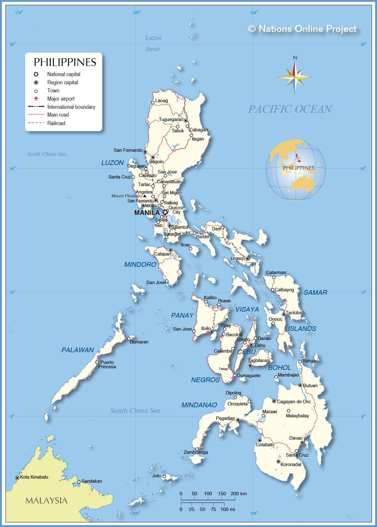 Autre carte des Philippines