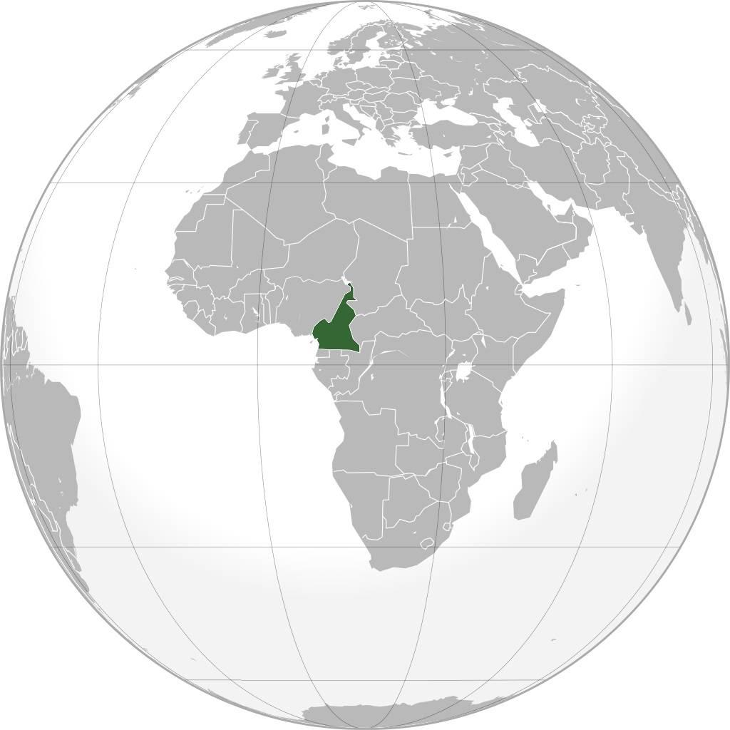 Cameroun sur une carte de l'Afrique