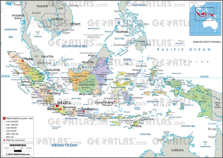 Carte administrative de l'Indonésie