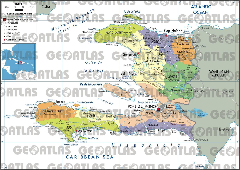 Carte administrative d'Haïti