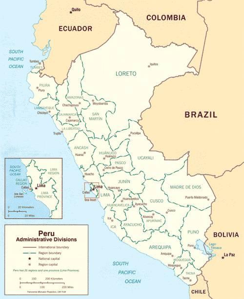 Turbo Carte du Pérou - Carte du pays en Amérique-du-Sud (villes  JB98