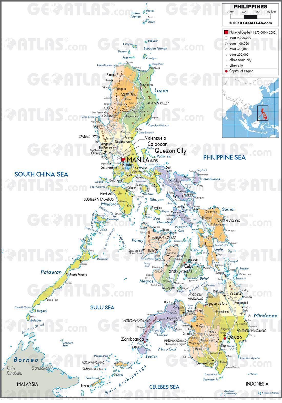 Carte administrative des Philippines