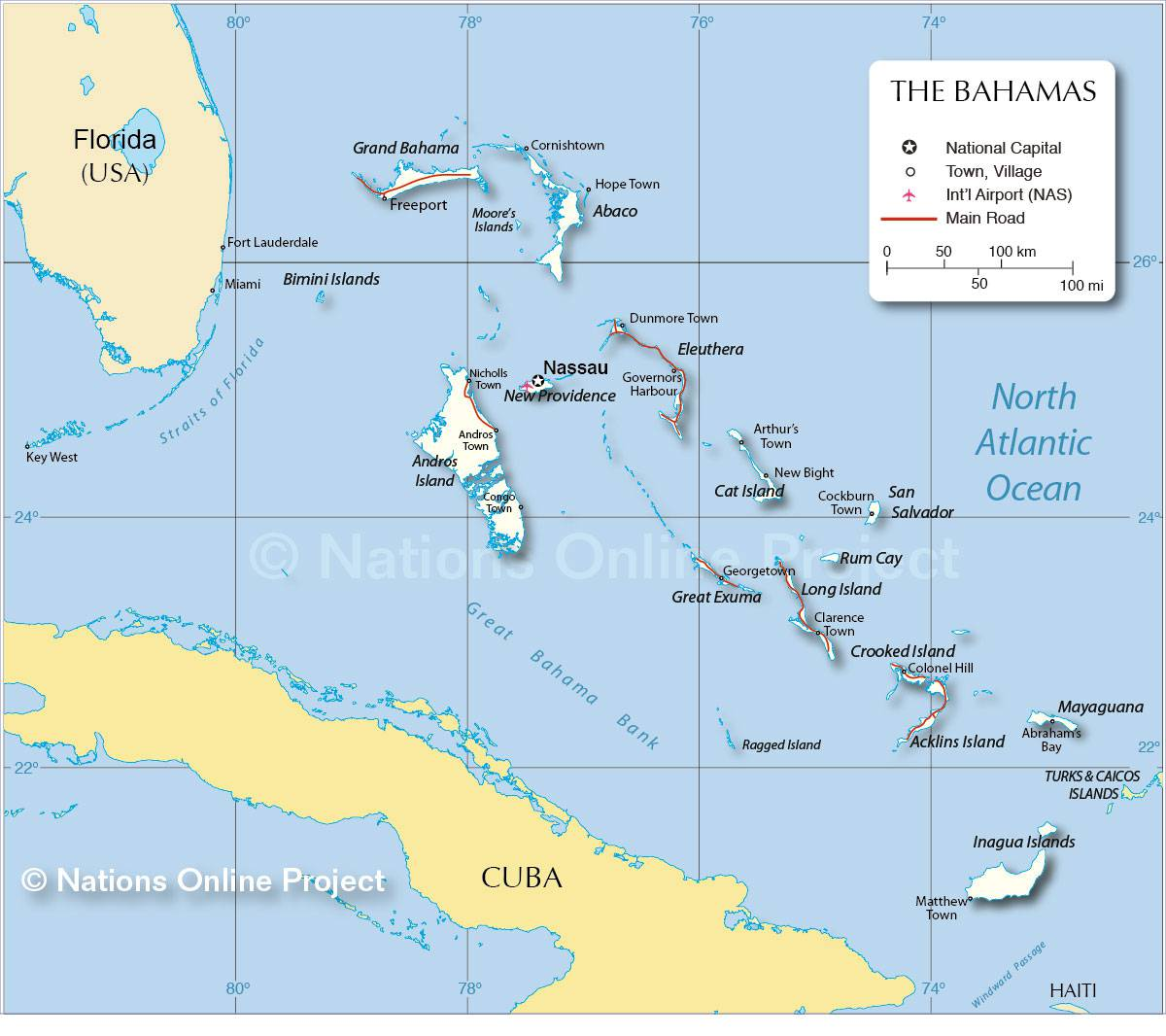 les bahamas photo et carte