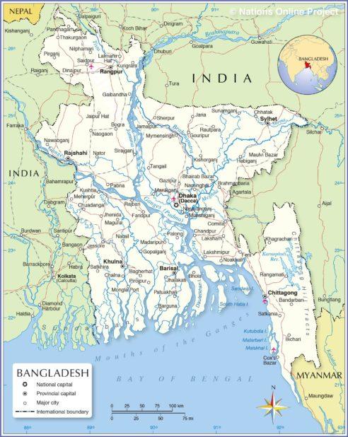 Carte du Bangladesh