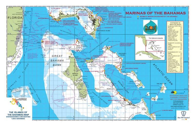 Carte détaillée des Bahamas