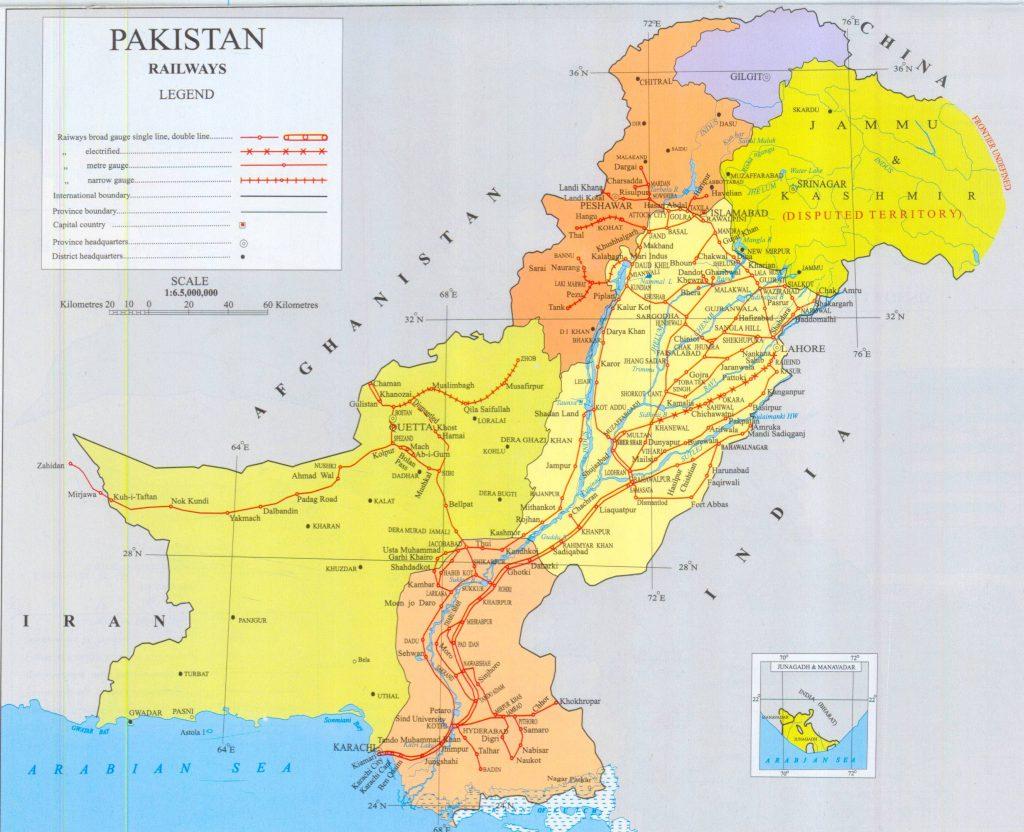 Carte détaillée du Pakistan