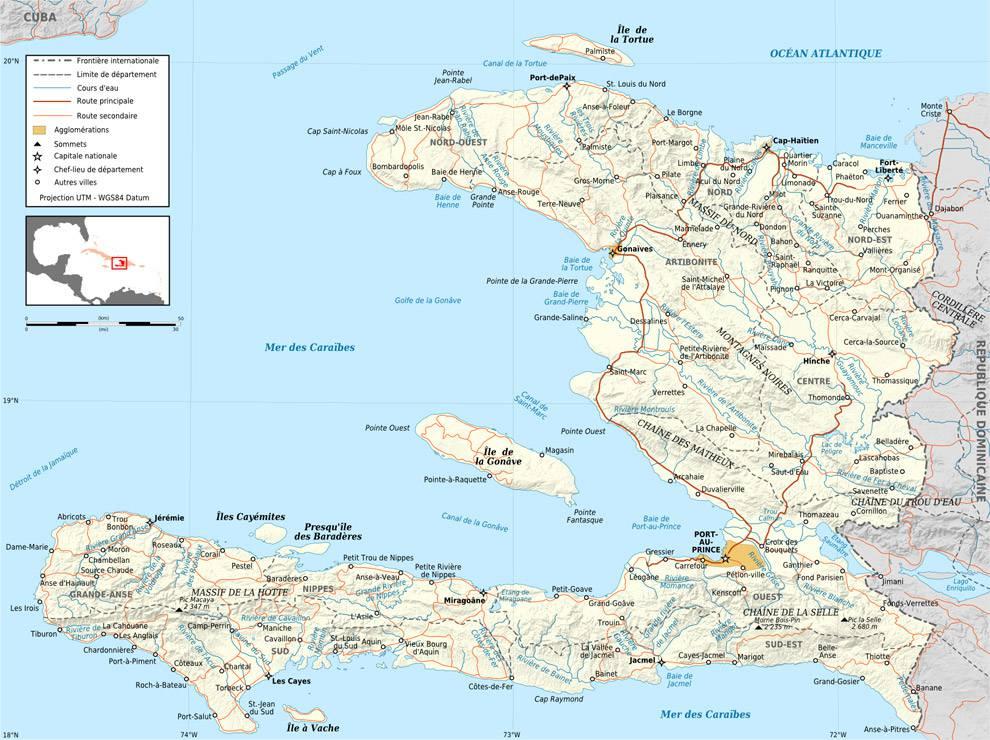 Carte politique d'Haïti