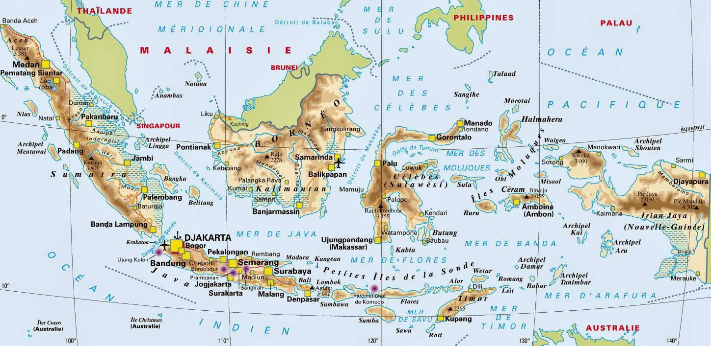 Carte politique de l'Indonésie