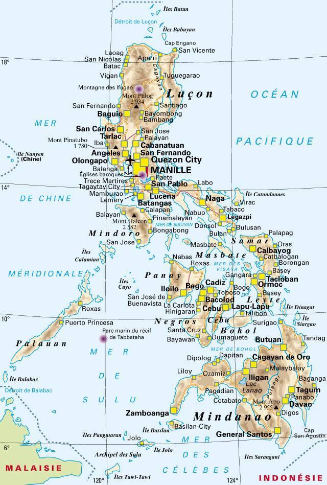 Carte politique des Philippines