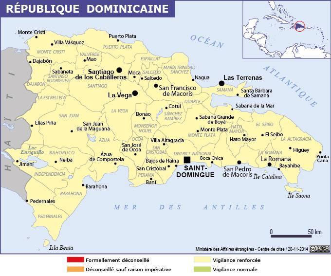 Carte politique de la République dominicaine