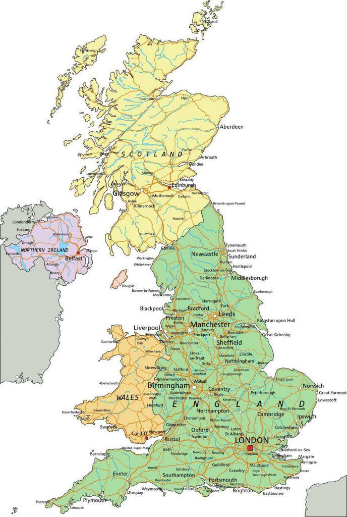 Carte politique du Royaume-Uni