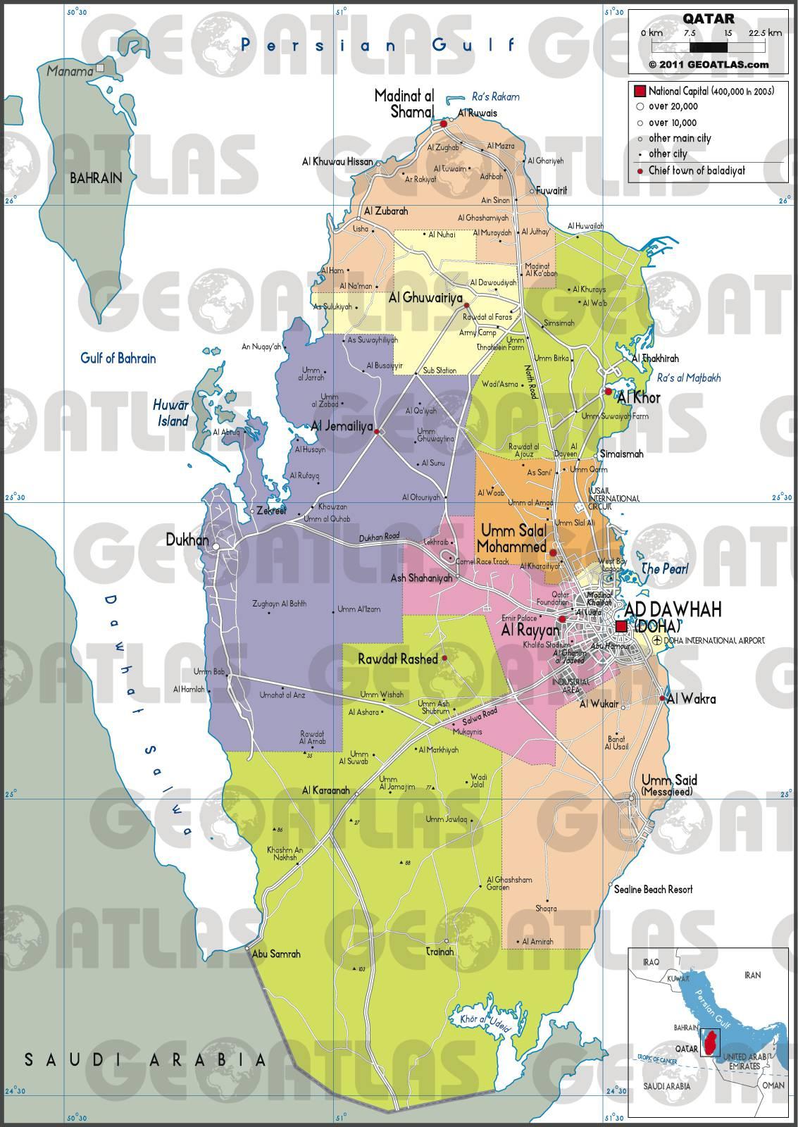 Doha City Map Pdf
