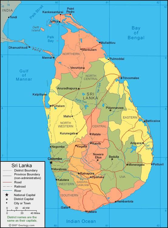 Carte Sri Lanka Tourisme.Carte Du Sri Lanka Plusieurs Cartes Du Pays Villes