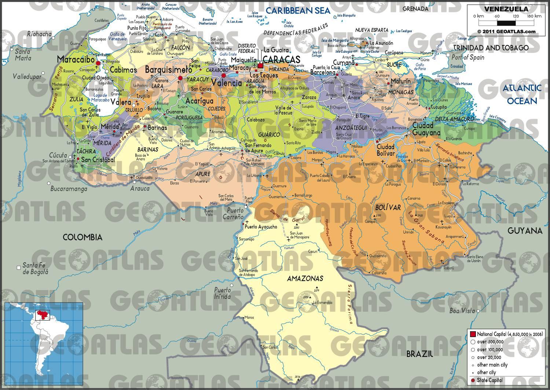 Carte des régions du Venezuela