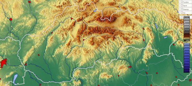 Carte du relief de la Slovaquie