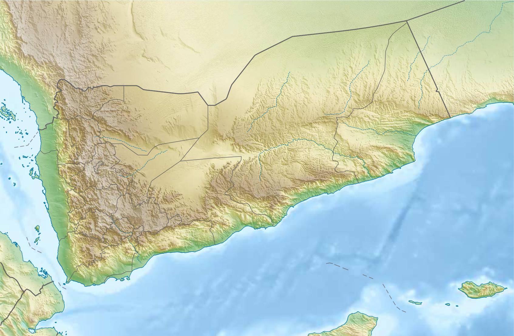 Carte du relief du Yémen