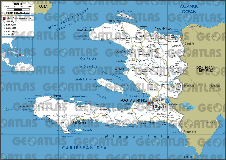 Carte routière d'Haïti