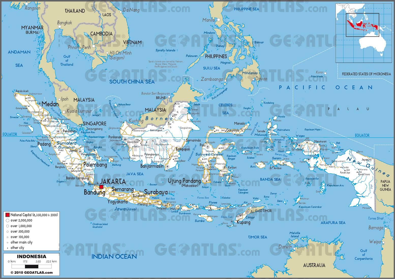 Carte routière de l'Indonésie