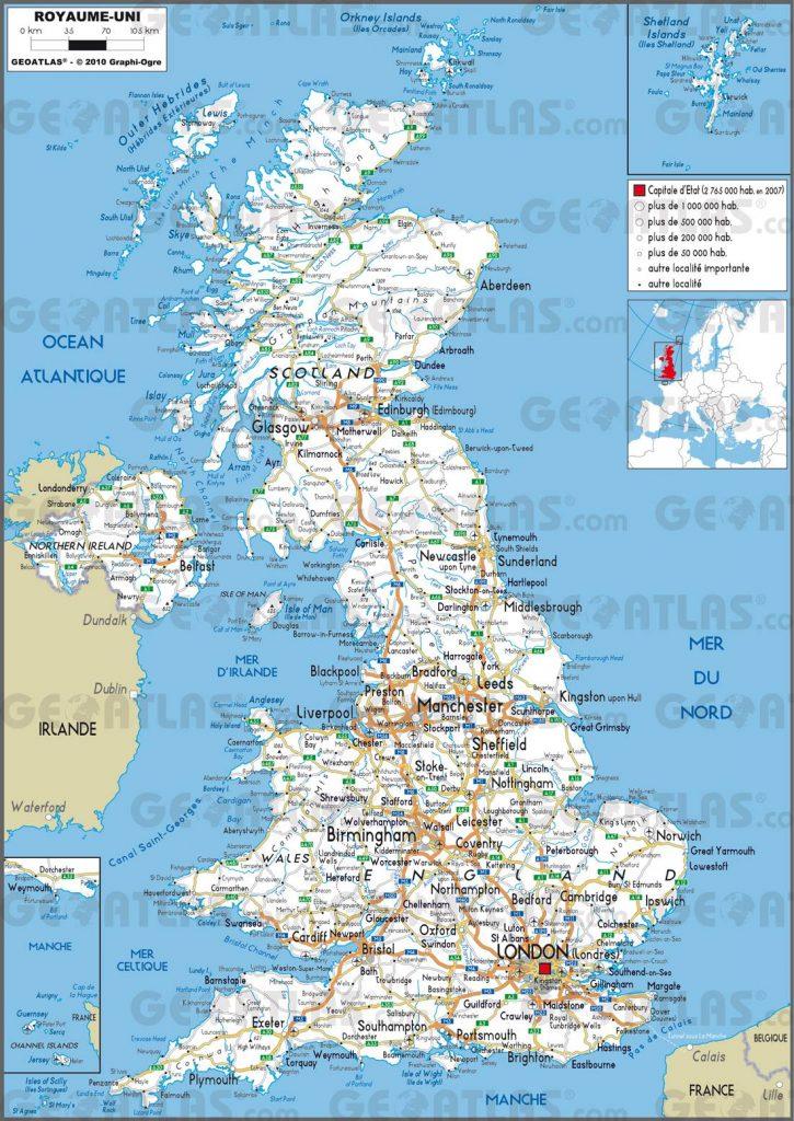 Carte routière du Royaume-Uni