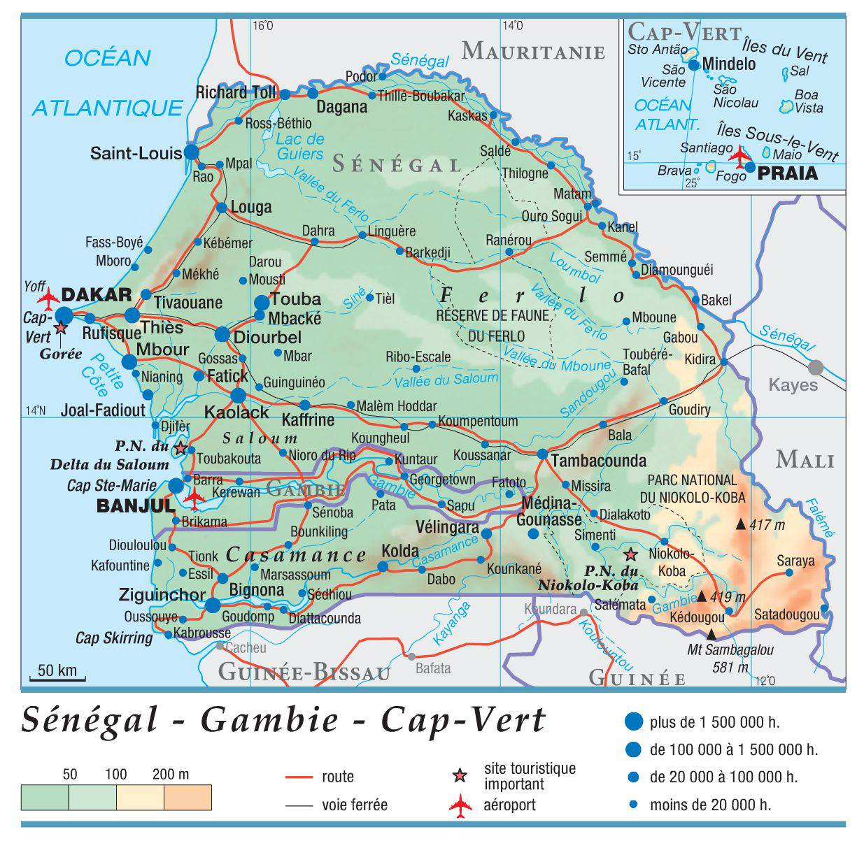 Carte du Sénégal