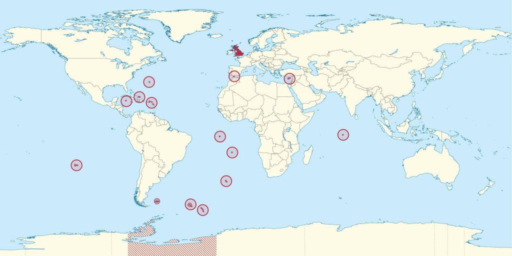 Carte des territoires du Royaume-Uni
