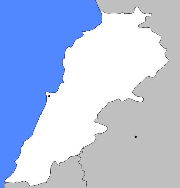 Carte vierge du Liban