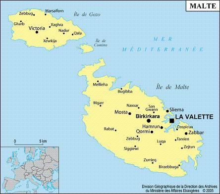 ile de malte carte geographique Carte de Malte   Plusieurs carte de l'île dans la méditérranée