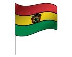 Drapeau avec pied de la Bolivie