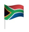 Drapeau de l'Afrique du Sud avec pied