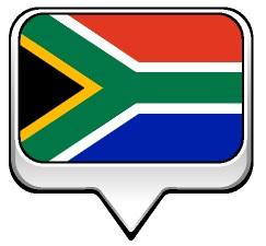 Drapeau bulle de l'Afrique du Sud