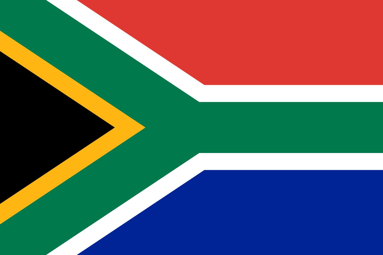 Drapeau de l'Afrique du Sud libre de droits
