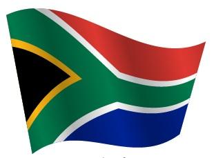 Drapeau de l'Afrique du Sud en ondulation