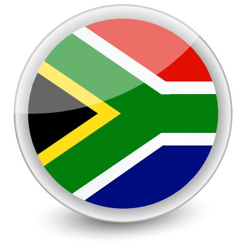 Drapeau de l'Afrique du Sud en rond