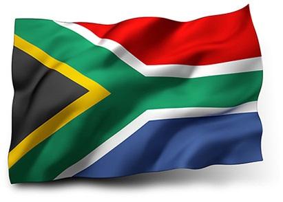 Drapeau de l'Afrique du Sud avec vagues