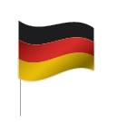 Drapeau de l'Allemagne à pied