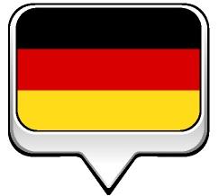 Drapeau bulle de l'Allemagne