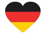 Drapeau de l'Allemagne en coeur