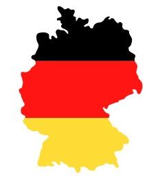 Drapeau de l'Allemagne en forme de pays